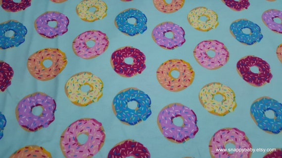 Flannel Fabric - Donut Shop - By the yard - 100% Cotton Flannel