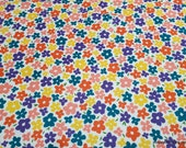 Flannel Fabric - Bright Floral Packed - By the yard - 100% Cotton Flannel