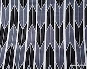 Flannel Fabric - Black Gray Arrow Geo - By the yard - 100% Cotton Flannel