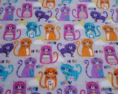 Flannel Fabric - Grey Purrfect Premium Flannel  - By the yard - 100% Cotton Flannel