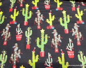 Christmas Flannel Fabric - Christmas Cacti -By the Yard - 100% Cotton Flannel