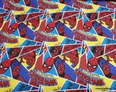 Character Flannel Fabric - Marvel Amazing Spiderman Comic - By the yard - 100% Cotton Flannel