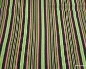 Premium Flannel Fabric - Sweet Pea Stripe Black Premium - By the yard - 100% Cotton Flannel