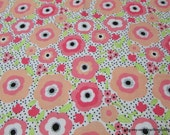 Flannel Fabric - Mimosa Daisies - By the yard - 100% Cotton Flannel