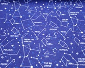 Flannel Fabric - Zodiac Sky - By the yard - 100% Cotton Flannel