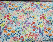 Flannel Fabric - Sunny and Bright Tiny Floral - By the Yard - 100% Cotton Flannel