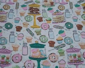 Flannel Fabric - Sweet Shop - By the yard - 100% Cotton Flannel