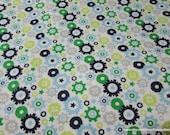 Flannel Fabric - Little Bot Gears - 1 yard - 100% Cotton Flannel