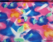 Flannel Fabric - Neon Lights - By the yard - 100% Cotton Flannel