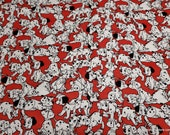 Character Flannel Fabric - 101 Dalmatians Packed - By the yard - 100% Cotton Flannel