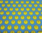 Flannel Fabric - Happy Suns - By the yard - 100% Cotton Flannel