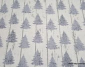 Flannel Fabric - White Wash Pines - By the yard - 100% Cotton Flannel