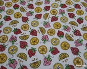 Premium Flannel Fabric - Lil Sprout Too Fruit on White Premium - By the yard - 100% Cotton Flannel