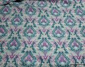 Flannel Fabric - Damask Gray Plum Heather Luxe - By the yard - 70% Rayon, 30 Cotton