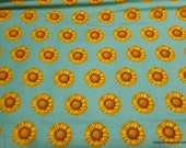 Flannel Fabric - Sunflower Blue - By the yard - 100% Cotton Flannel