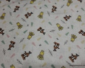 Character Flannel Fabric - Disney Winnie the Pooh Tigger and Pooh - By the yard - 100% Cotton Flannel