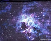 Flannel Fabric - Galaxy Abyss - By the yard - 100% Cotton Flannel
