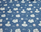Character Flannel Fabric - Disney Baby Winnie the Pooh Clouds - By the yard - 100% Cotton Flannel