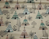 Flannel Fabric - Aztec Desert Teepee - By the yard - 100% Cotton Flannel