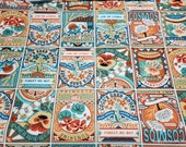 Flannel Fabric - Seed Packets - By the yard - 100% Cotton Flannel