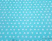 Flannel Fabric - Cloudburst Dot Aqua - By the yard - 100% Cotton Flannel