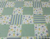 Flannel Fabric - My Toy Patch - By the yard - 100% Cotton Flannel