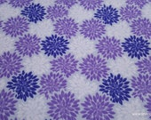 Flannel Fabric - Purple Gray Burst - By the yard - 100% Cotton Flannel