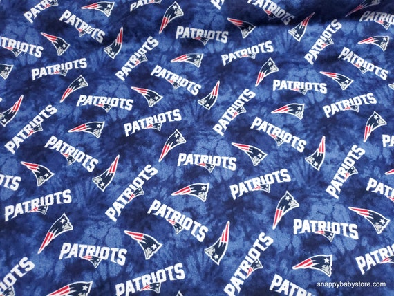 Team Flannel Fabric - NFL New England Patriots - By the yard - 100% Cotton Flannel
