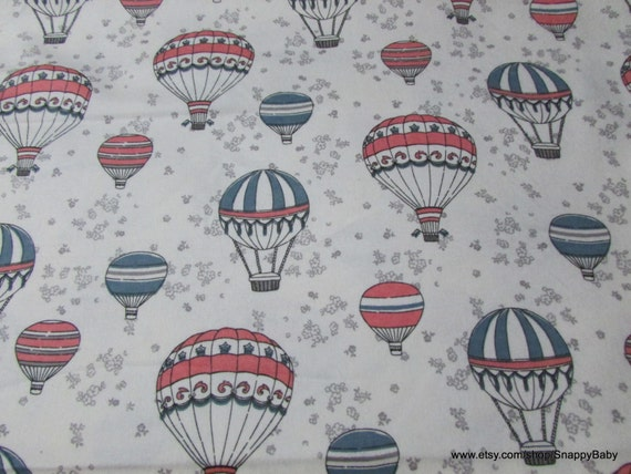 Flannel Fabric - Air Balloons - By the yard - 100% Cotton Flannel