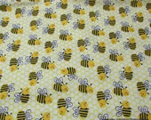 Flannel Fabric - Honeycomb Bee - By the yard - 100% Cotton Flannel