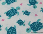 Flannel Fabric - Mermaids Turtles - By the Yard - 100% Cotton Flannel