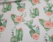 Flannel Fabric - Camila Large Cactus - By the yard - 100% Cotton Flannel