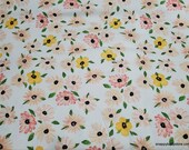 Flannel Fabric - Watercolor Small Floral - By the Yard - 100% Cotton Flannel