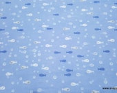 Flannel Fabric - Kai Fishes - By the yard - 100% Cotton Flannel