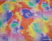 Flannel Fabric - Pastel Tie Dye - By the yard - 100% Cotton Flannel