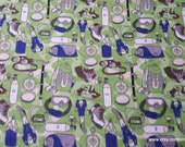 Flannel Fabric - Hiking Green - By the Yard - 100% Cotton Flannel