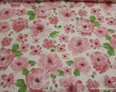 Flannel Fabric - Bunny Roses - By the yard - 100% Cotton Flannel
