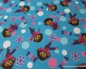 Flannel Fabric - Dora Floral Toss - By the Yard - 100% Cotton Flannel