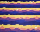 Flannel Fabric - Sunset Wilderness - By the yard - 100% Cotton Flannel
