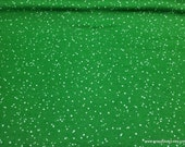 Christmas Premium Flannel Fabric - Christmas Joys Snow on Green Premium  - By the yard - 100% Cotton Flannel