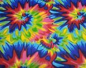 Flannel Fabric - Burst Tie Dye - By the yard - 100% Cotton Flannel