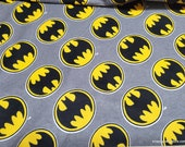 Character Flannel Fabric - Batman Logo - By the yard - 100% Cotton Flannel