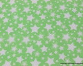 Flannel Fabric - Starry Nights Green Apple - By the yard - 100% Cotton Flannel