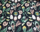 Flannel Fabric - Dinosaur Things - By the yard - 100% Cotton Flannel