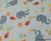 Flannel Fabric - Noah's Ark Sea - By the yard - 100% Cotton Flannel