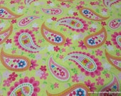 Flannel Fabric - Springtime Paisley - By the yard - 100% Cotton Flannel