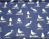Flannel Fabric - Beach Navy Luxe - By the yard - 70% Rayon, 30 Cotton Luxe Flannel Fabric