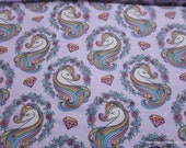 Flannel Fabric - Sparkle Unicorn - By the yard - 100% Cotton Flannel