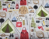 Flannel Fabric - Camping Gear - By the yard - 100% Cotton Flannel