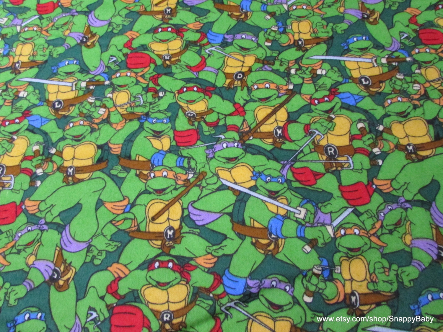 Character Flannel Fabric Teenage Mutant Ninja Turtles